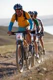 Concorrenza della bici di montagna di avventura Fotografia Stock