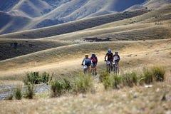 Concorrenza della bile della montagna di avventura Fotografie Stock Libere da Diritti