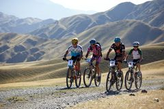 Concorrenza della bile della montagna di avventura Immagine Stock Libera da Diritti