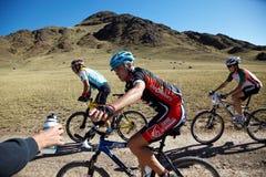 Concorrenza della bile della montagna di avventura Fotografia Stock Libera da Diritti