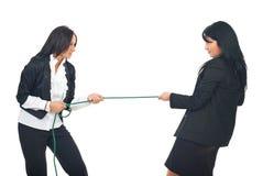Concorrenza delle donne di affari Fotografia Stock