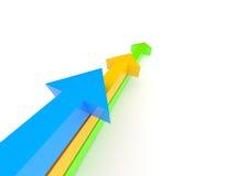 Concorrenza delle frecce. illustrazione vettoriale
