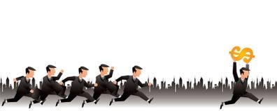 Concorrenza di affari Immagini Stock Libere da Diritti