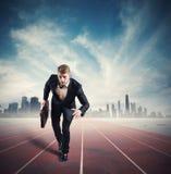 Concorrenza di affari Fotografia Stock