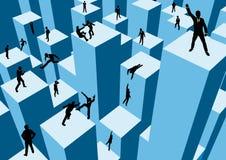 Concorrenza di affari Immagine Stock
