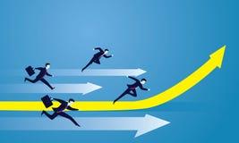 Concorrenza di affari Corsa a successo illustrazione di stock