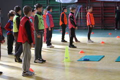 Concorrenza di atletismo dei bambini immagini stock libere da diritti
