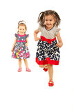 Concorrenza di correre delle sorelle Fotografia Stock Libera da Diritti