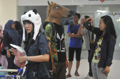 Concorrenza di cosplay in Indonesia Immagine Stock Libera da Diritti