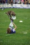 Concorrenza di Dogfrisbee a Varsavia, Polonia Immagini Stock