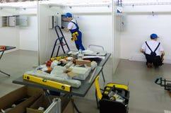 Concorrenza di giovani elettricisti Tjumen' La Russia Fotografie Stock