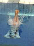 Concorrenza di immersione subacquea Immagini Stock Libere da Diritti