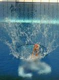 Concorrenza di immersione subacquea Immagine Stock
