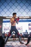 Concorrenza di kick boxing Fotografia Stock