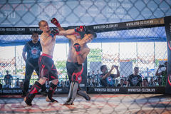 Concorrenza di kick boxing Fotografia Stock