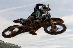 Concorrenza di motocross Lega catalana della corsa di motocross Fotografie Stock