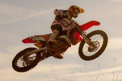 Concorrenza di motocross Lega catalana della corsa di motocross Fotografie Stock Libere da Diritti
