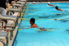 Concorrenza di nuoto Immagini Stock Libere da Diritti