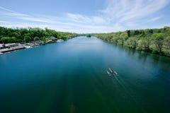 Concorrenza di regata del fiume di Schuylkill Immagini Stock Libere da Diritti