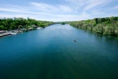 Concorrenza di regata del fiume di Schuylkill Fotografia Stock