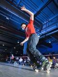 Concorrenza di Rollerblading Fotografie Stock