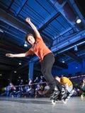 Concorrenza di Rollerblading Fotografia Stock