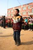 Concorrenza di salto della corda Fotografia Stock Libera da Diritti