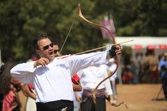 Concorrenza di tiro con l'arco in Turchia Fotografie Stock Libere da Diritti