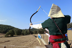 Concorrenza di tiro con l'arco in Turchia Fotografia Stock