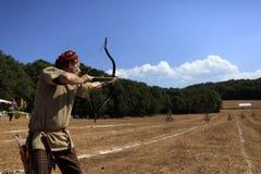 Concorrenza di tiro con l'arco in Turchia Immagini Stock Libere da Diritti