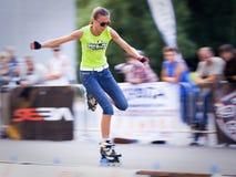 concorrenza di Velocità-slalom Fotografia Stock