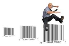 Concorrenza di vendite Fotografia Stock