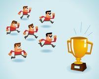 Concorrenza essere meglio Immagini Stock