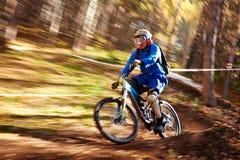 Concorrenza estrema del buke della montagna Fotografia Stock