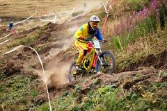 Concorrenza estrema della bici di montagna Immagini Stock