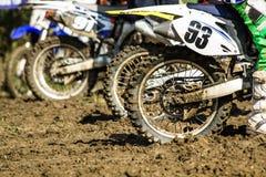 Concorrenza fuori strada della motocicletta Fotografia Stock