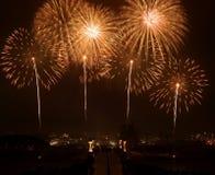 Concorrenza internazionale 2008 dei fuochi d'artificio della Malesia Immagini Stock