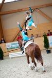 Concorrenza internazionale del Vaulting, Slovacchia Fotografia Stock