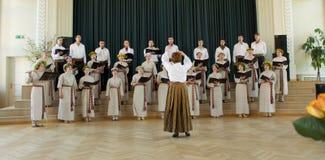 Concorrenza locale del coro Immagini Stock Libere da Diritti