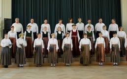 Concorrenza locale del coro Fotografia Stock Libera da Diritti