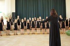 Concorrenza locale del coro Immagine Stock