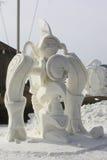 Concorrenza nazionale della scultura di neve - il lago Lemano, WI Fotografia Stock Libera da Diritti
