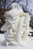 Concorrenza nazionale della scultura di neve - il lago Lemano, WI Immagine Stock