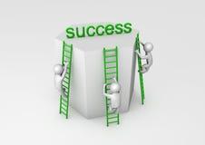 Concorrenza per successo Fotografia Stock