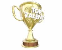 Concorrenza premiata di manifestazione del vincitore del premio di talento superiore illustrazione di stock