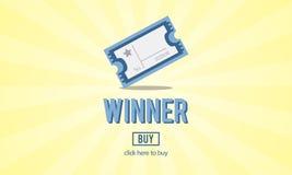 Concorrenza riuscita Victory Concept del vincitore Fotografie Stock Libere da Diritti
