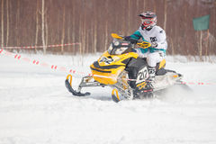 concorrenza Snowmobile la corsa Fotografia Stock Libera da Diritti
