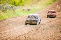 Concorrenza sovietica russa delle automobili di raduno immagini stock