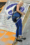 Concorsi in arrampicata Immagini Stock Libere da Diritti