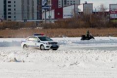 Concorsi dell'automobile per gli ufficiali di polizia Fotografie Stock